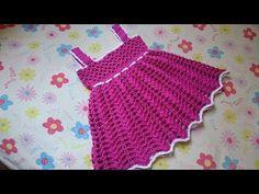 Vestido Allice em croche idade de 7 meses a 1 ano e meio parte 1 - YouTube