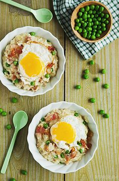 Japanese Styled Bacon and Egg Risotto