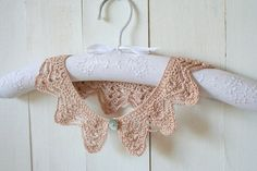 Powder Pink Romantic Crochet Lace Collar by allapples on Etsy, $24.00