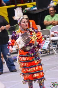 2013 Gathering of Nations PowWow Photos - Derek Mathews Native American Regalia, Native American Women, American Indians, Dance Outfits, Dance Dresses, Jingle Dress, Powwow Regalia, Native Design, Contemporary Dresses