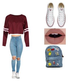 """""""school fool"""" by madystultz on Polyvore featuring Converse"""