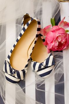 navy stripes + peony pink | Katelyn James #wedding