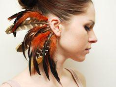 feather ear cuff | Tumblr