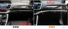 For Honda Accord 2013 2014 2015 Stainless Steel Central Control Instrument Panel Decoration Cover Trim 4 pcs / set #Affiliate