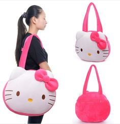 Plush Shoulder Bags Cartoon Hello Kitty Shoulder Bag Large Handbags for Girls Women Inches Hello Kitty Handbags, Hello Kitty Bag, Hello Kitty Themes, Cheap Crossbody Bags, Tote Bags, Cute Rose, Kawaii, Large Shoulder Bags, Large Handbags
