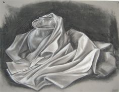 Drawing stilllife | still life of hard vs soft surfaces completed in charcoal and chalk