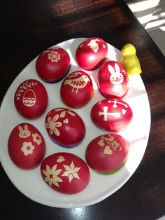 My Greek Orthodox Easter Dyed Red Eggs 2017