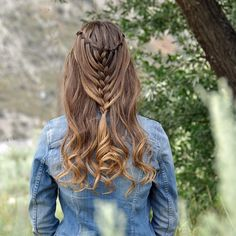 """""""Cascading Waterfall Mermaid Braid with Curls on myself today! ☺️ Wishing Mindy, @cutegirlshairstyles, and Laura, @lauralaine_hair, a happy birthday today!  #happybdaymindytwin"""" Photo taken by @braidsbyjordan on Instagram, pinned via the InstaPin iOS App! http://www.instapinapp.com (06/24/2015)"""