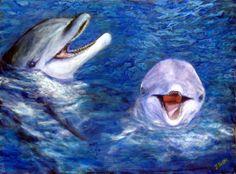 Belote Ocean art - DOLPHIN PAINTINGS