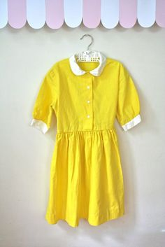 verrrrry suzy bishop! vintage 50s/60s girl's dress  SUNNY SIDE yellow by MsTips on Etsy, $32.00