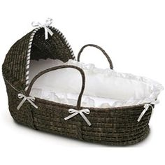@Overstock - This convenient Moses Basket provides a safe place for your baby to sleep at home or when visiting friends. With this basket you'll always be able to keep your baby near you. http://www.overstock.com/Baby/Espresso-Hooded-Moses-Basket-in-White/5690924/product.html?CID=214117 $37.03