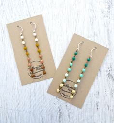 BFF Gift Set // Earrings // Turquoise // Earth by bellwetherblonde