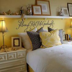 Shelf over bed for master bedroom