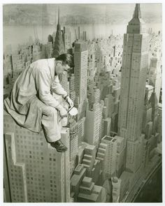 Consolidated Edison - City of Light Diorama - Artist painting model at the 1939 New York World's Fair