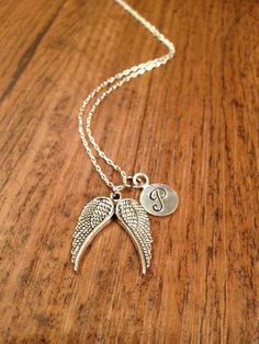 Angel wings necklace by kimsjewelry on Etsy