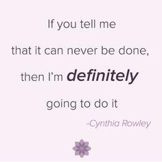 Love this motto from Cynthia Rowley! (via @liveposhly on Instagram)