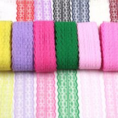 Hot Sale high quality african ribbon lace 45mm wide 10yard/lot colorful lace wedding party  decoration 15 color bridal fabric