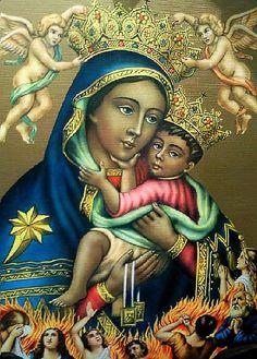https://flic.kr/p/76ScwA | Madonna del Carmine (La Bruna), Napoli | Popular print of the Carmel Madonna of Naples, known as La Bruna (the brown one). - La Basilica Santuario del Carmine Maggiore