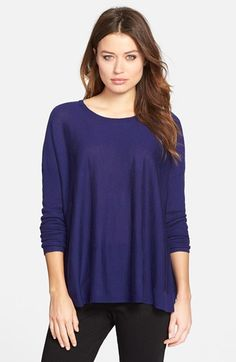a993071286 Eileen Fisher Lighweight Boxy Merino Wool Sweater (Regular  amp  Petite)  available at