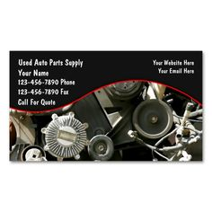 Auto Parts Salvage Business Cards. This great business card design is available for customization. All text style, colors, sizes can be modified to fit your needs. Just click the image to learn more!