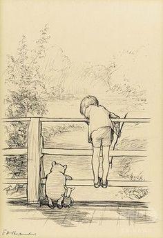 774rider: 【英国】「くまのプーさん」挿絵原画、5900万円で落札 過去最高額 : イギリス : 円速 株やFXなど投資系2chまとめ 【12月10日 AFP】A・A・ミルン(A. A. Milne)原作の童話「くまのプーさん(Winnie-the-Pooh)」のために描かれた挿絵原画が9日、英ロンドン(London)での競売で31万4500ポンド(約5900万円)で落札された。 挿絵としては史上最高額。オークションは、競売大手サザビーズ(Sotheby's)が主催した。 E・H・シェパード(E. H. Shepard)によるこのインク作品は1928年に出版された絵本の挿絵として描かれたもので、プーとクリストファー・ロビン(Christopher Robin)、ピグレット(Piglet)が一緒に橋の上に立ち、片側から川に投げた棒が反対側から現れるのを待つ遊び「プー棒投げ」の様子を描いている。