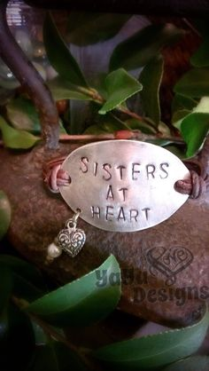 Vintage sterling spoon sister at heart leather by YaYaLoveDesign, $28.00