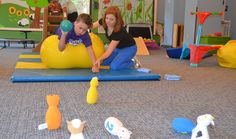 Occupational therapy is the treatment designed to assist people of all ages to perform the functional tasks that normally occupy their lives. Pediatric occupational therapy focuses on sensory processing issues, cognitive, motor, and other development. Occupational Therapy Schools, Pediatric Physical Therapy, Pediatric Ot, Gross Motor Activities, Activities For Kids, Physical Activities, Sensory Therapy, Exercise For Kids, Preschool