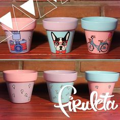 macetas-pintadas-a-mano-vintage-588911-MLA20663175438_042016-F.webp (1200×1200) Painted Clay Pots, Painted Flower Pots, Crafts To Make And Sell, Diy And Crafts, Flower Pot People, Decorated Flower Pots, House Plants Decor, Clay Pot Crafts, Ceramic Pots