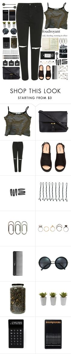 """""""We're just strangers"""" by annaclaraalvez ❤ liked on Polyvore featuring ZALORA, Topshop, BOBBY, Clips, Iosselliani, Sephora Collection, Brixton, Nearly Natural, LEXON and 1928"""