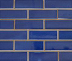 Blue Glazed Brick Facing Tiles Thin Cladding