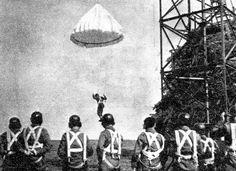 Polish Paratroopers training- Parachute Tower- 1st Polish Independent Parachute Brigade - Cichociemni- WWII