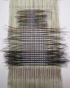 Peggy Osterkamp | miniature | silk sewing thread + black horse hair | Greenbrae, California, U.S.A. | 2012