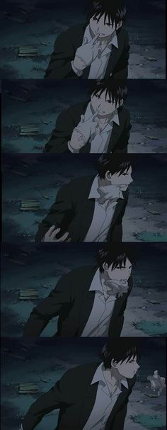 Admit it, Roy Mustang taking off his glove is...*gulp (ep 24) But why is he doing it with his mouth again? oh yeah! cause it's SEXY!