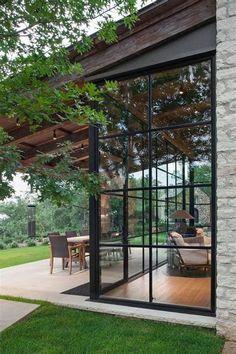 Screened Porch Designs, Pergola Designs, Screened Porches, Veranda Design, Sunroom Decorating, Decorating Ideas, Decor Ideas, Room Ideas, Plafond Design