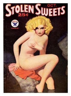 AP1004 - Stolen Sweets, Pin Up, Glamour Magazine Cover 1930s (30x40cm Art Print)