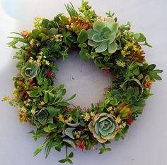 succulent wreath.