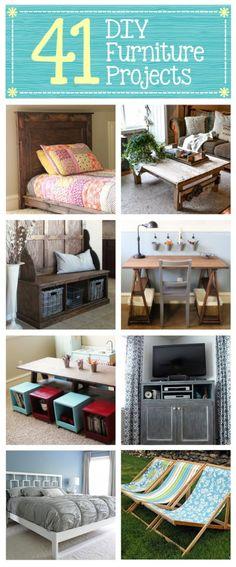 Lots of Great DIY Projects – Handmade Furniture #pin_it #diy #sustentabilidade @mundodascasas See more here: www.mundodascasas.com.br
