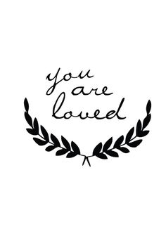 Shanna Murray 'You Are Loved' Decal – Home Apparel