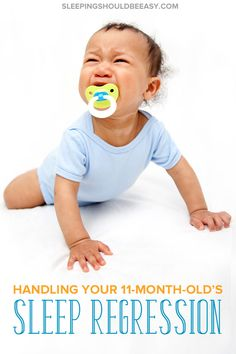 Is your baby waking up at night or suddenly refusing to sleep? Helping children sleep well when they hit a rough patch is a challenge for even the most patient mom. Discover tips to cope with the11 month sleep regressionand end your sleep problems once and for all. A must-read for exhausted parents who want their kids to finally sleep! Baby Care Tips, Baby Tips, Baby Hacks, Kids Sleep, Baby Sleep, 11 Month Sleep Regression, Newborn Baby Care, Sleep Early, Sleeping Through The Night