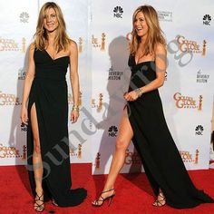 Free Shipping Jennifer Aniston Golden Globe Red Carpet Celebrity Dresses One-Shoulder Black Chiffon Cocktail Dresses Formal Gown on AliExpress.com. $126.00