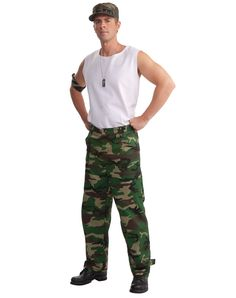 Camouflage Adult Mens Army Pants – Spirit Halloween