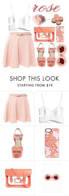 """""""Rose"""" by evangeline-lily ❤ liked on Polyvore featuring Miso, H&M, Steve Madden, Diane Von Furstenberg, The Cambridge Satchel Company, Wildfox and Hard Candy"""