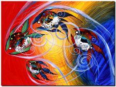 Moon Dance Modern Abstract Fish Art Artwork Paintings J Vincent Scarpace Fish Artwork, Fish Wall Art, Artwork Paintings, Acrylic Paintings, Image Of Fish, Sea Life Art, Moon Dance, Gcse Art, Colorful Fish