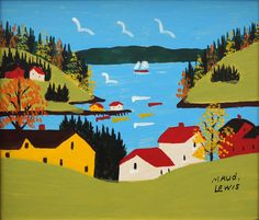 Sandy Cove in Autumn by Maud Lewis