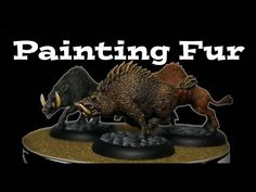 How to Paint Fur on Miniatures - YouTube