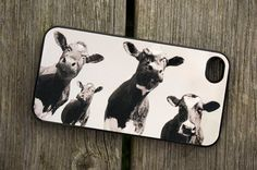 iphone 4 / 4S or 5 case - Four cows - smartphone - Mobile - Animal - Farm - Moo - Photo. £13.00, via Etsy.