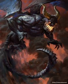 Demon of Dusk – concept art by Mike Azevedo, for HEX Entertainment