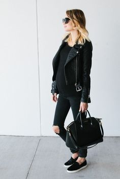 Cool black maternity style.