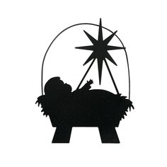 Silhouette Manger Ornaments - OrientalTrading.com