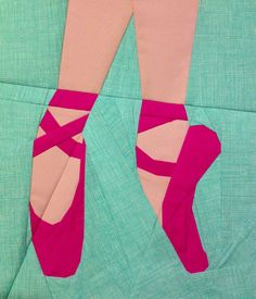 Ballet Shoe Paper Pieced Quilt Block, another gem from Tartankiwi ...